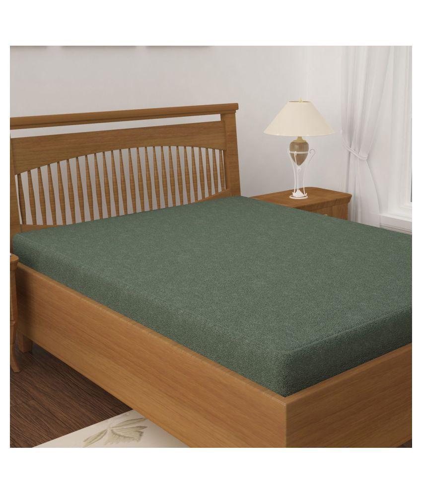 Story@Home Mattress Protector Green Cotton Mattress Protector