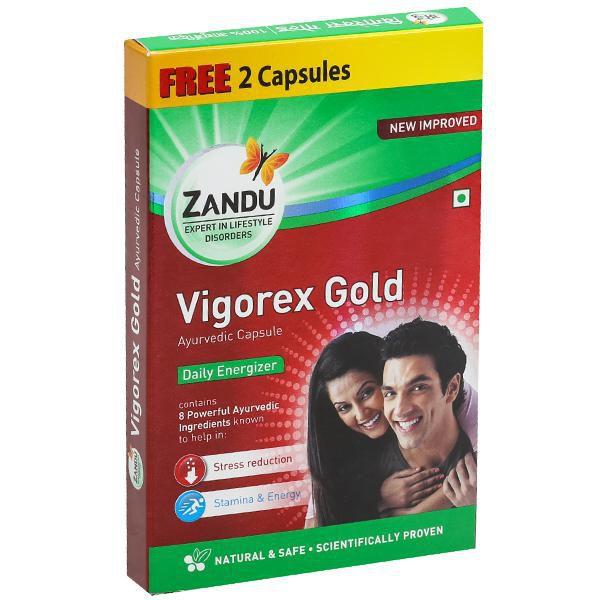 Herbalshoppe Zandu Vigo rex Gold (10X5=50 +10 Free) Capsule 60 no.s