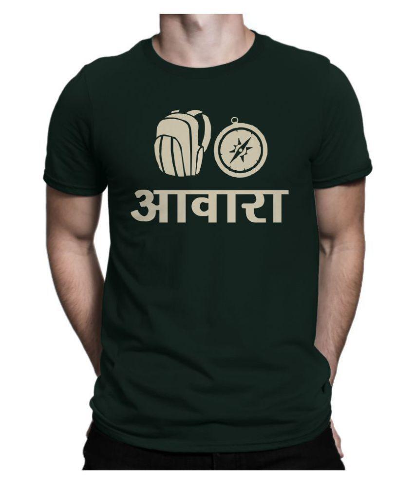 feranoid 100 Percent Cotton Green Printed T-Shirt