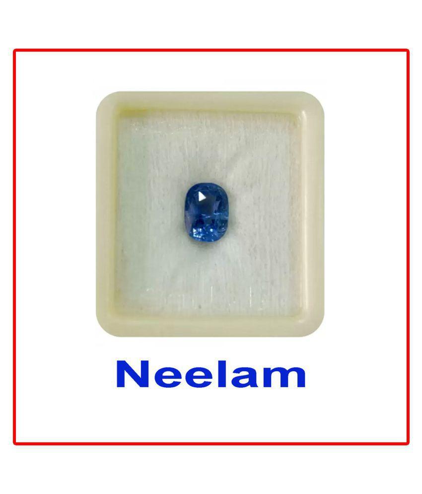 Maya Gems/6.10 Ct Neelam (BlueSapphire) Natural Gemstone