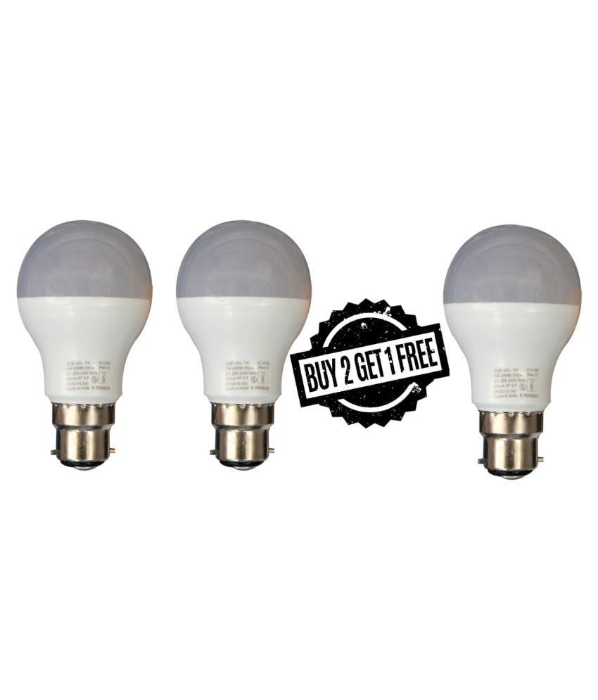 SYSKA LED LIGHTS 9W LED Bulbs Cool Day Light - Pack of 3