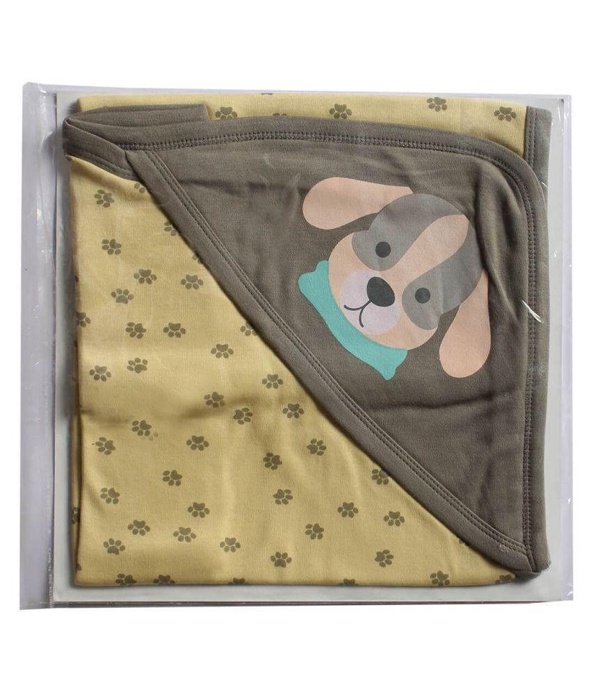 Morisons Baby Dreams Brown Cotton Baby Wrap cum blanket ( 76 cm × 18 cm - 1 pcs)