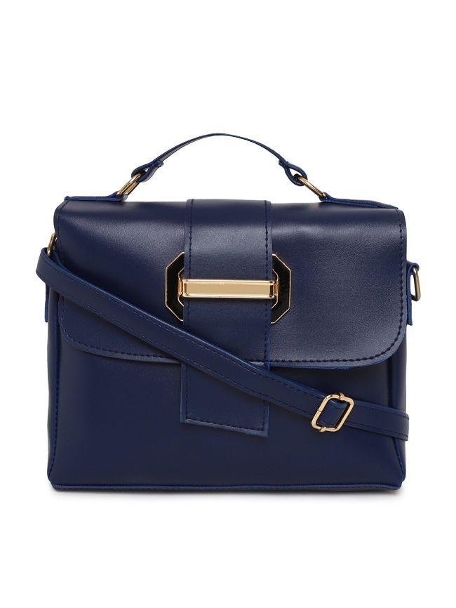 Aliado Blue Synthetic Casual Messenger Bag