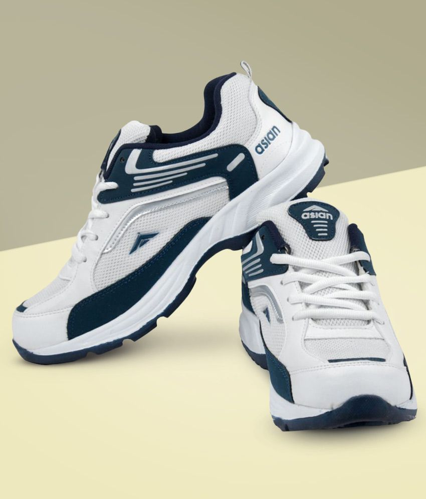 ASIAN White Running Shoes