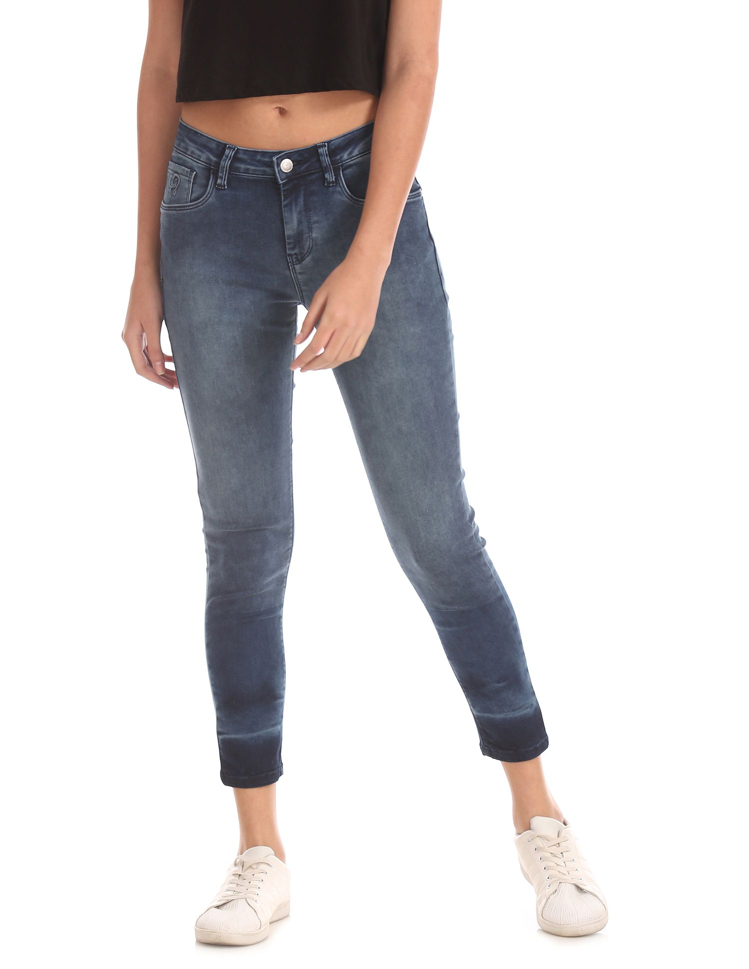 Flying Machine Cotton Jeans - Blue