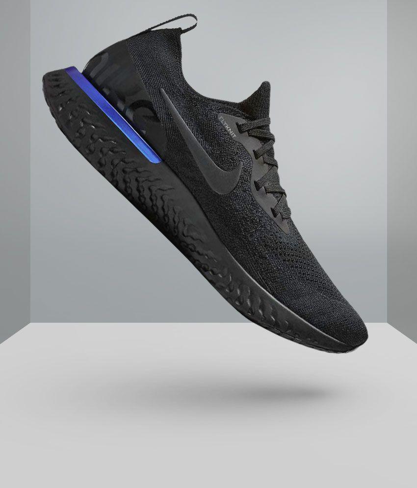 Nike EPIC REACT FLYKNIT Black Running Shoes