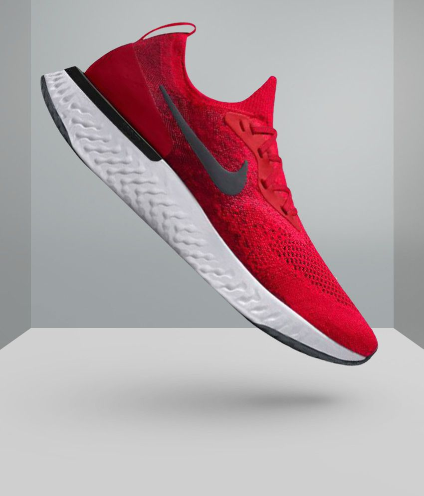 Nike Epic React Flyknit Red Running Shoes