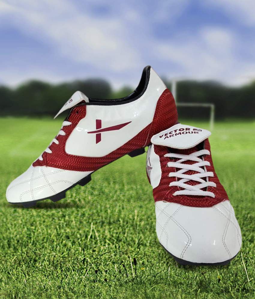 Vector X Armour White Football Shoes