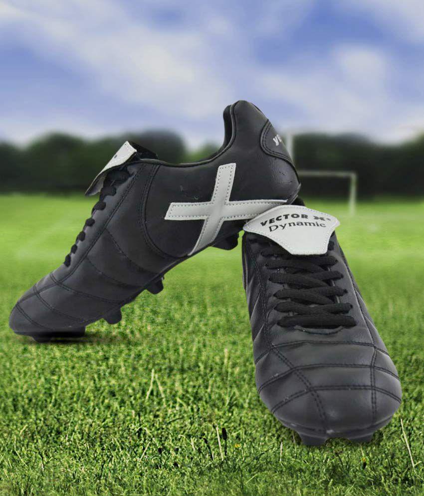Vector X Dynamic Black Football Shoes