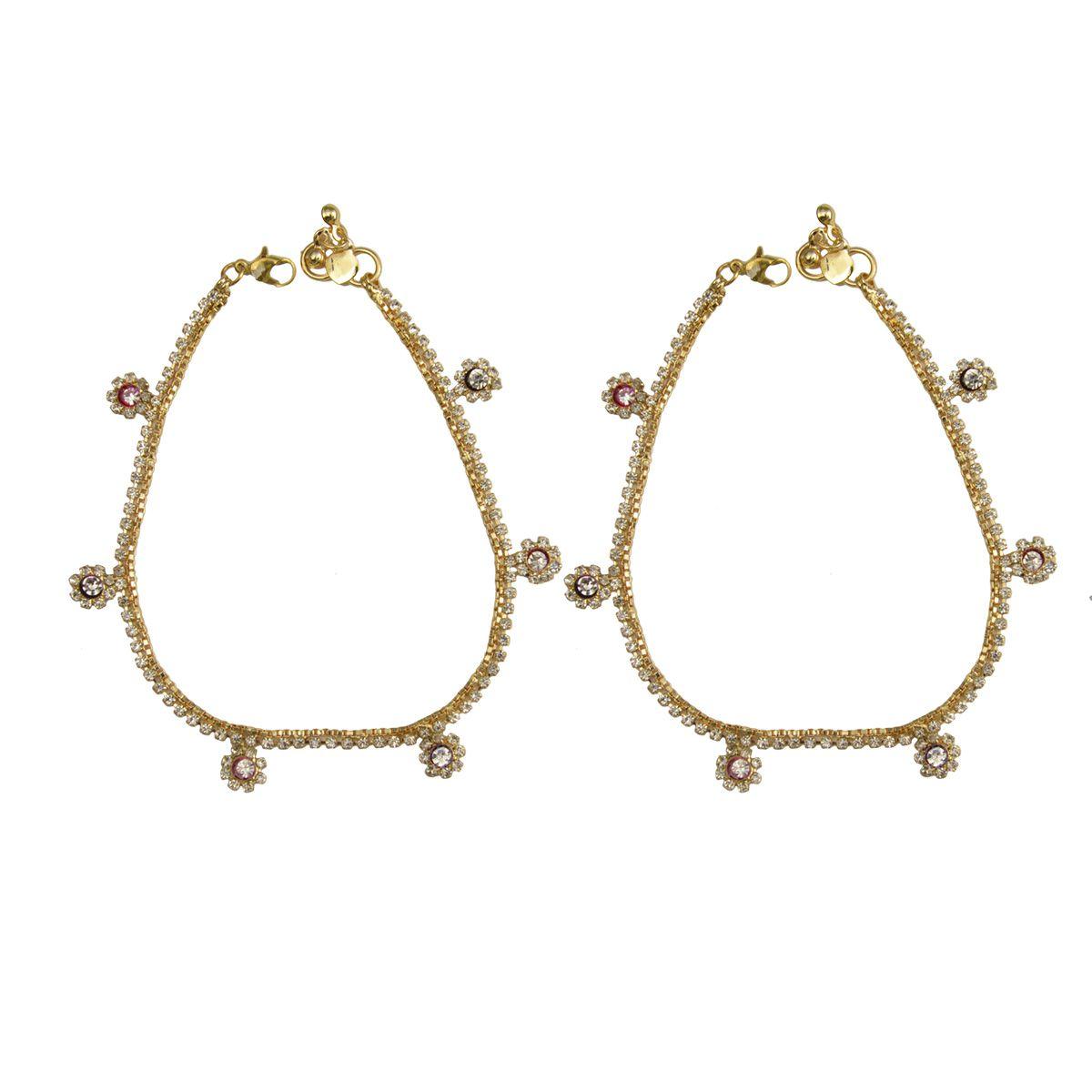 Rabia Taj Pearl Gold plated Anklets