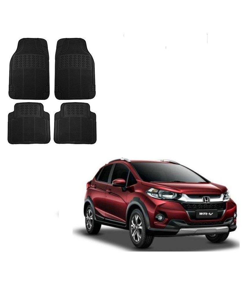 Auto Addict Car Simple Rubber Black Mats Set of 4Pcs For Honda WRV
