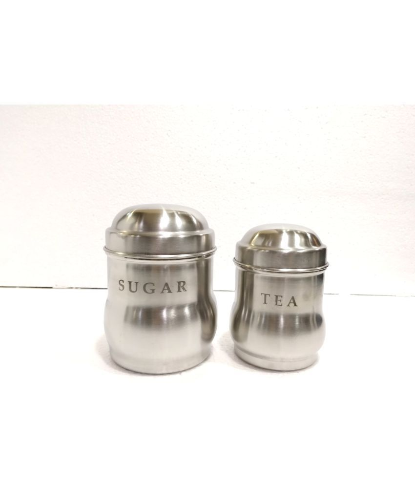 BOXY Belly Family 2 pc Steel Tea/Coffee/Sugar Container Set of 2 800 mL