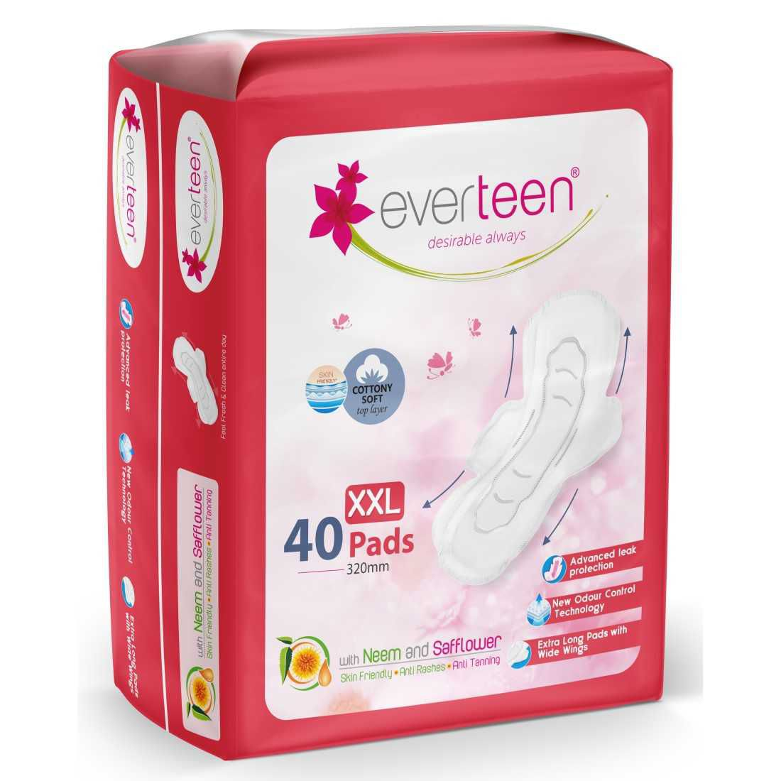 Everteen Xxl Cottony Soft Sanitary Napkin Pads Xxl 40 Sanitary Pads Buy Everteen Xxl Cottony Soft Sanitary Napkin Pads Xxl 40 Sanitary Pads At Best Prices In India Snapdeal