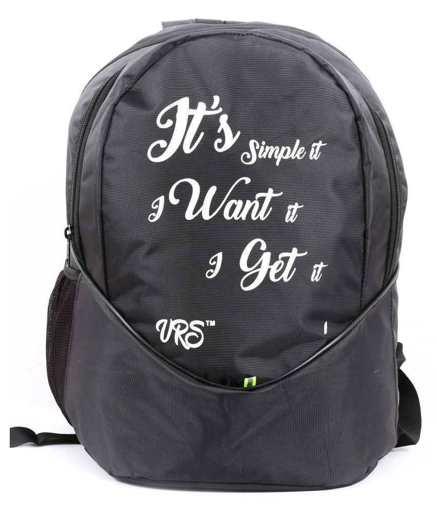 VRS BAG Black School Bag for Boys & Girls