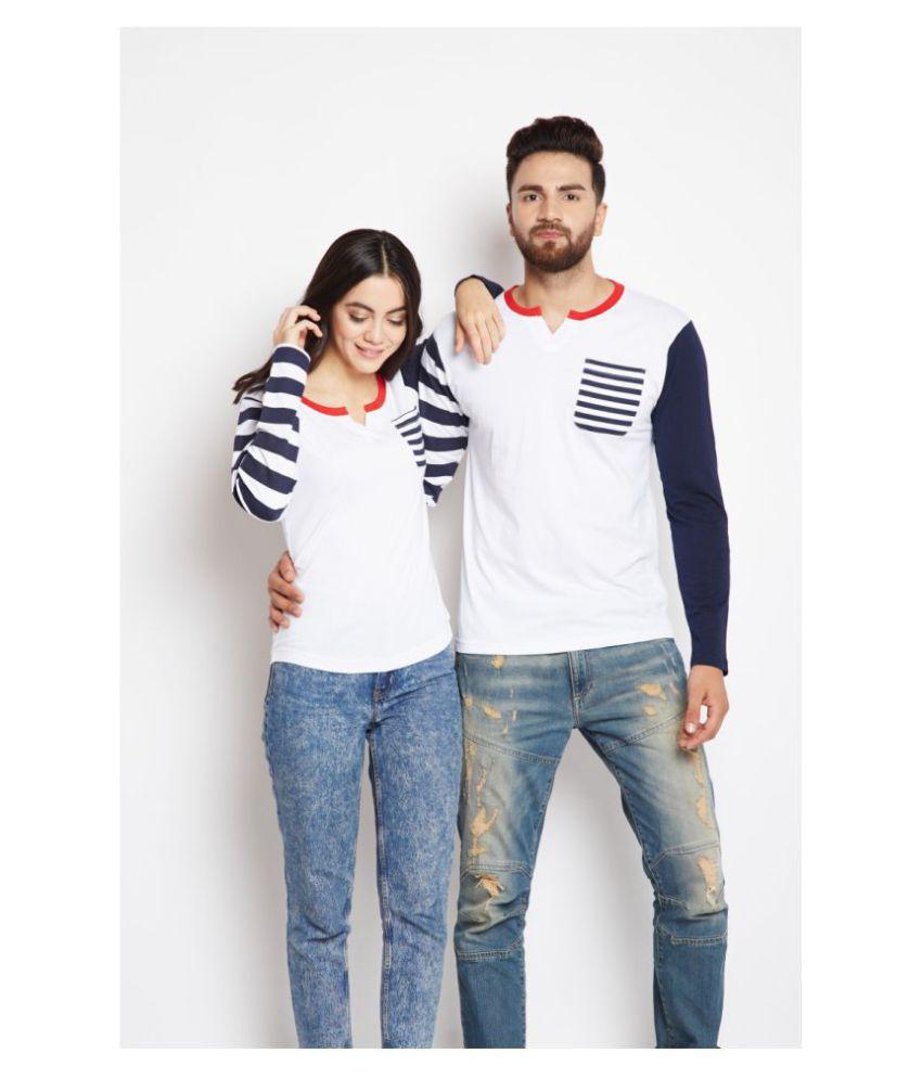 Bombay Clothing Company White Cotton blend Couple Combo