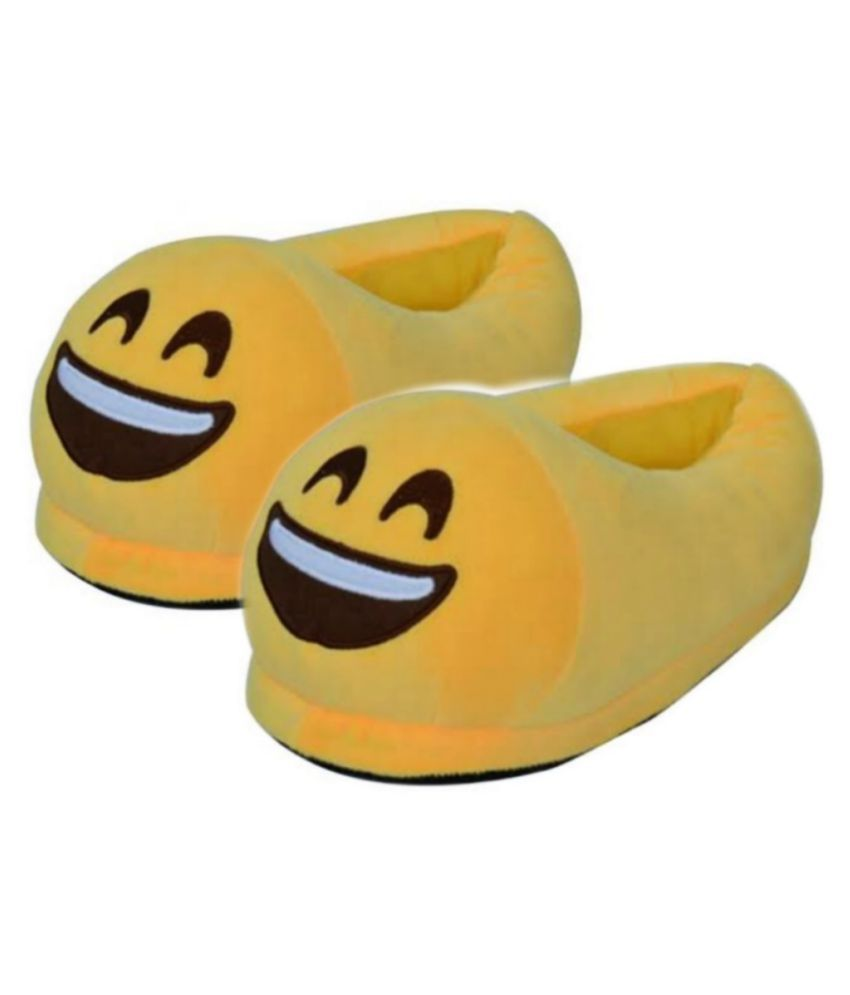 The Vogue Nation Yellow Emoji slippers