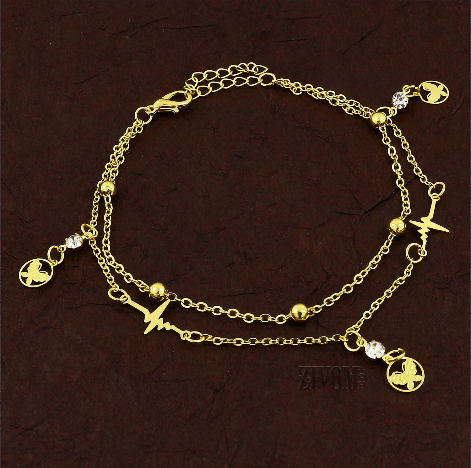 Zivom® Butterfly Stylish Indo Western Dainty Delicate Charms Single Leg Anklet Payal for Women Girls