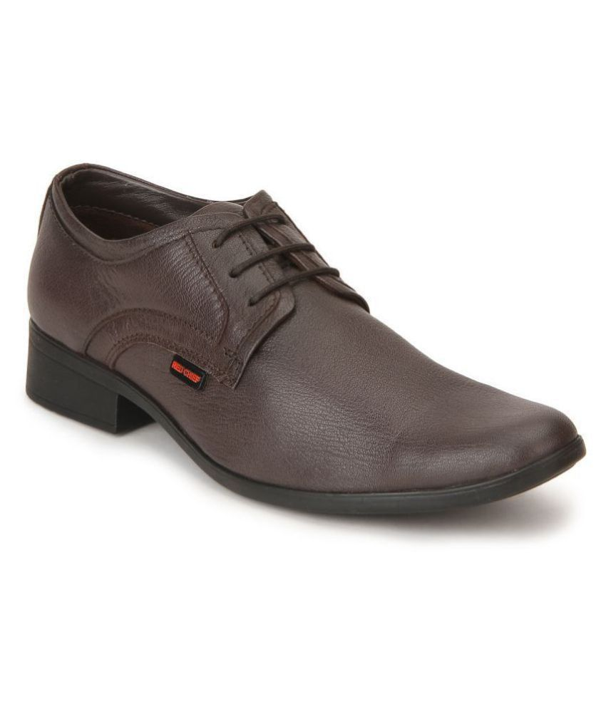 Red Chief Genuine Leather Brown Formal Shoes