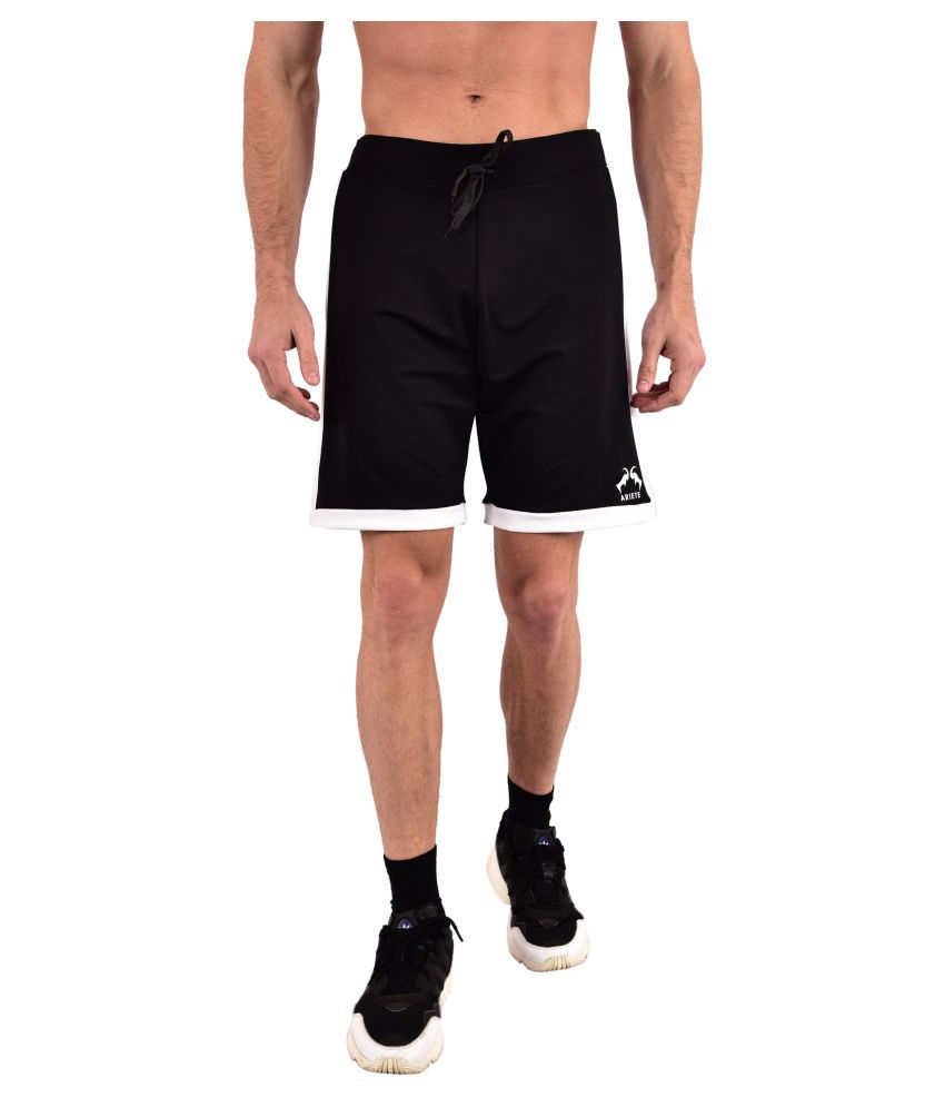 ARIETE Black Shorts