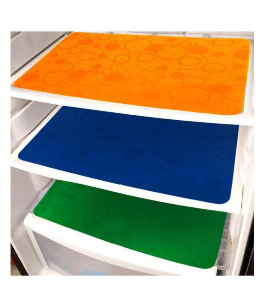 Khushi Creation Set of 3 PVC Multi Fridge Mats