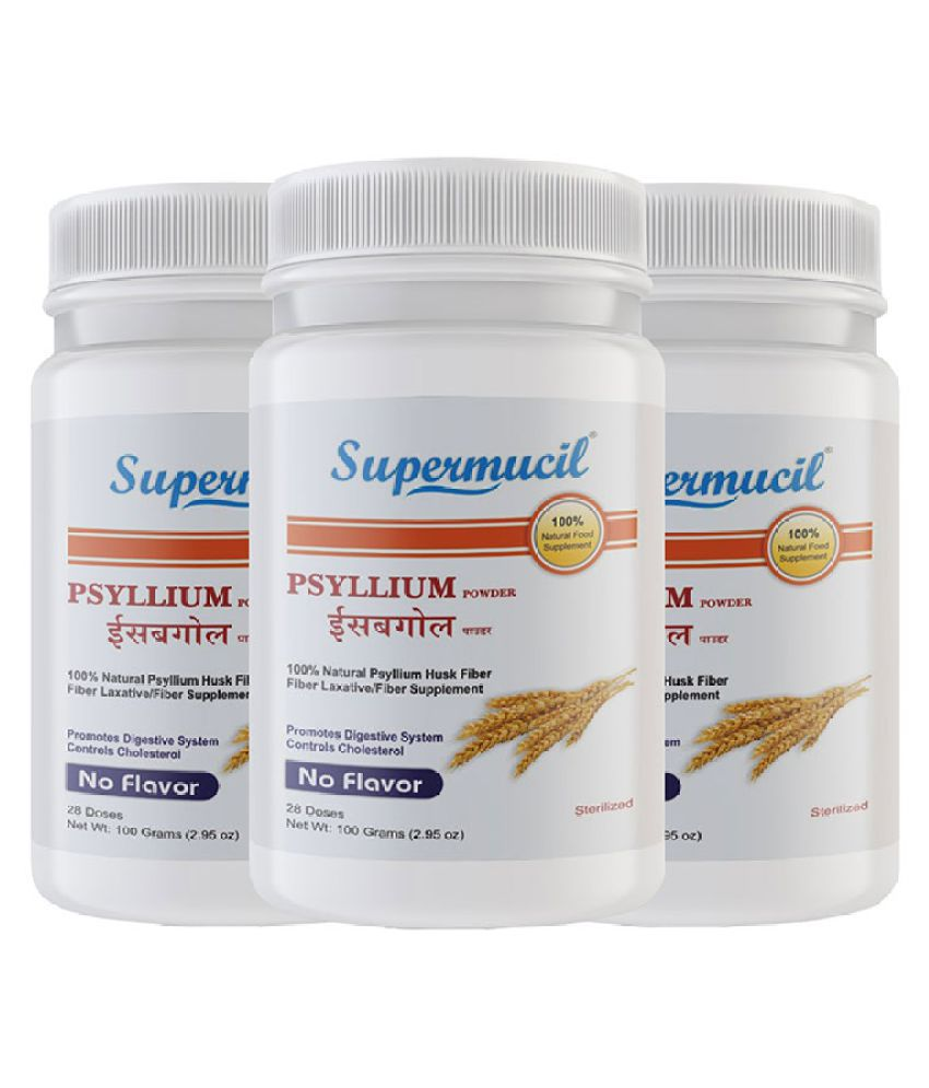 SUPERMUCIL Psyllium Husk Powder 100 gm Pack of 3