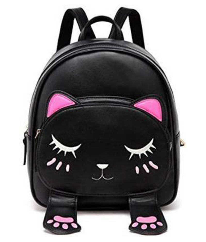 kncollection Black P.U. Backpack