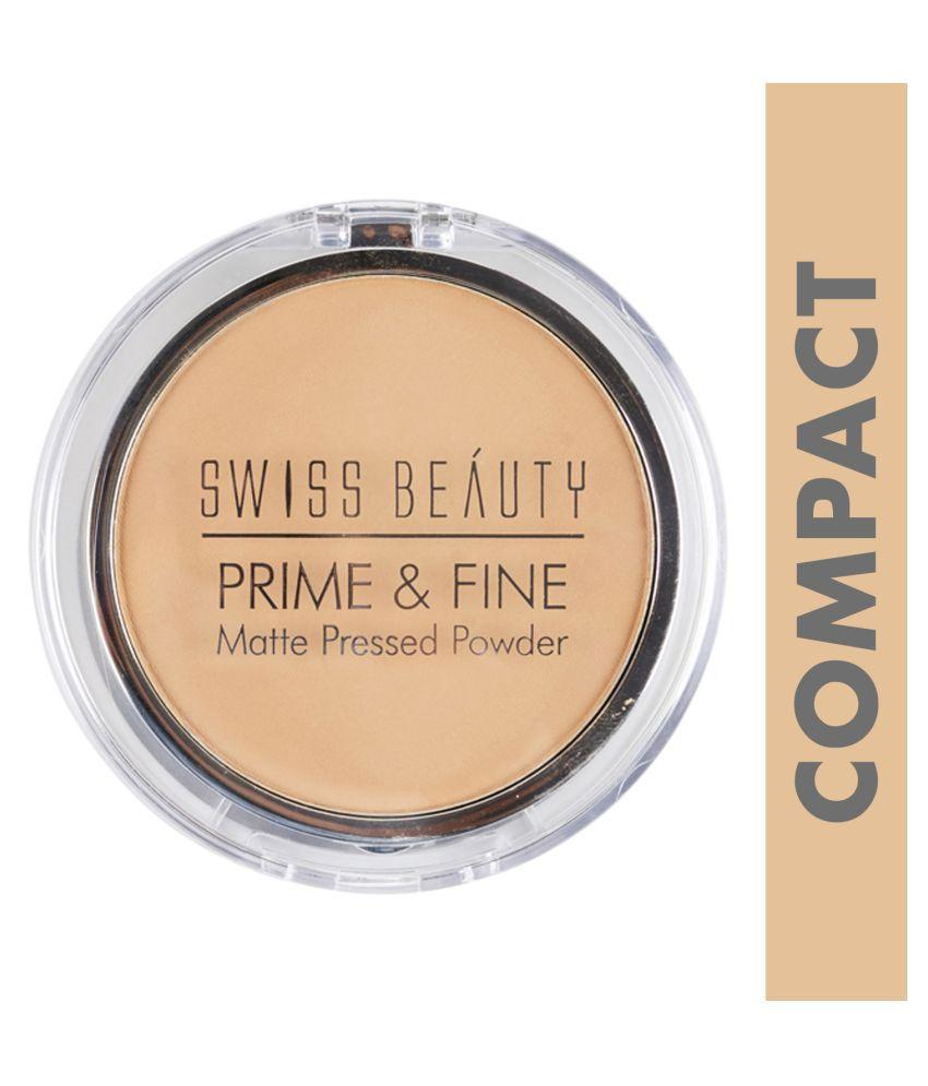 Swiss Beauty Prime & Fine Matte Pressed Powder Medium 10 g