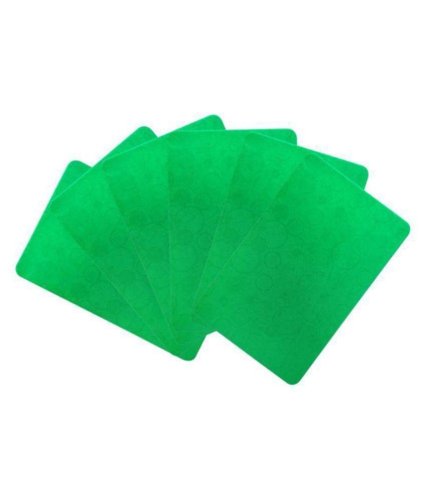 Khushi Creation Set of 6 PVC Green Fridge Mats