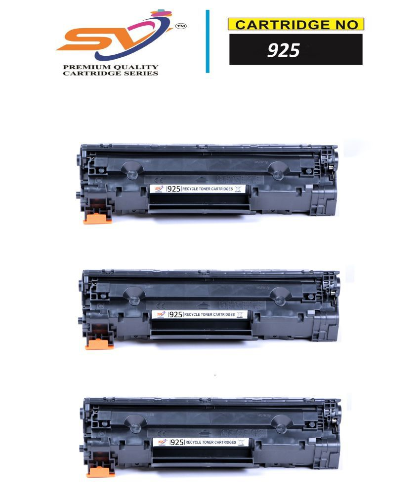 SiddhiVinayak 925 Black Pack of 3 Cartridge for Canon LBP-3010,6018,6000 Series
