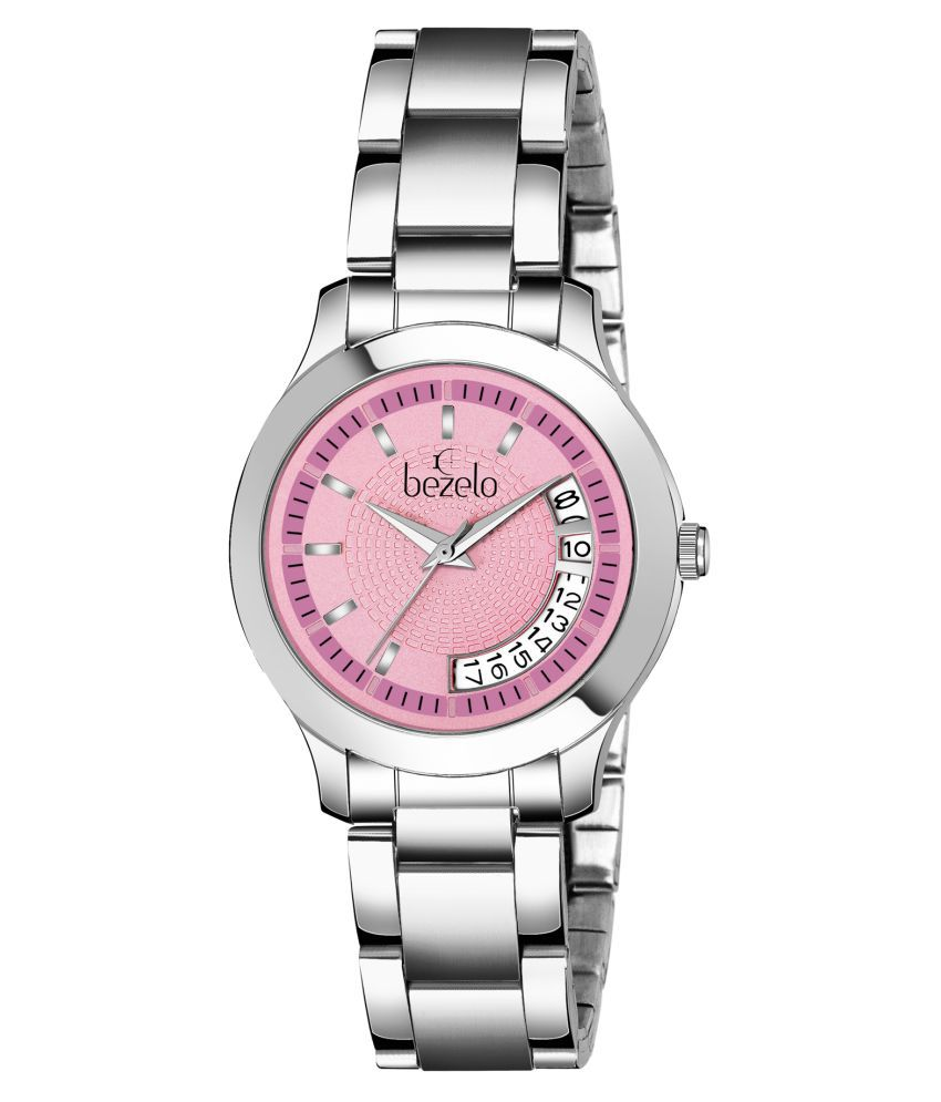 BEZELO Stainless Steel Round Womens Watch