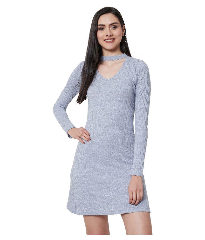 Nun Cotton Purple A- line Dress