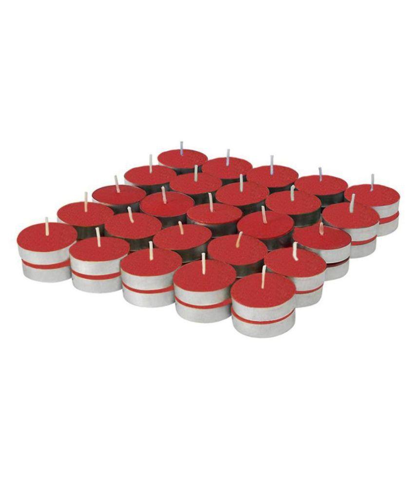 Enjoy Red Wax Tea Light - Pack of 50