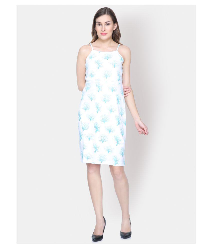 Yaadleen Cotton White Bodycon Dress