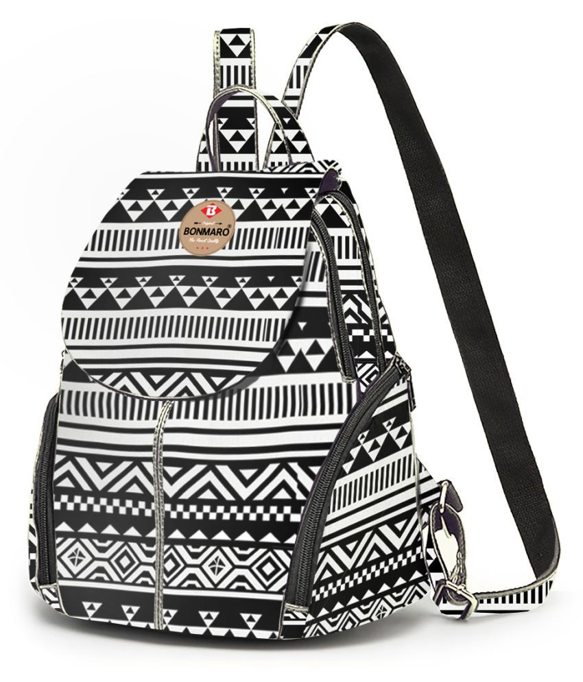 Bonmaro D'oro Tora Cotton Canvas Casual Backpack for Girls – Tribal – 1900370003