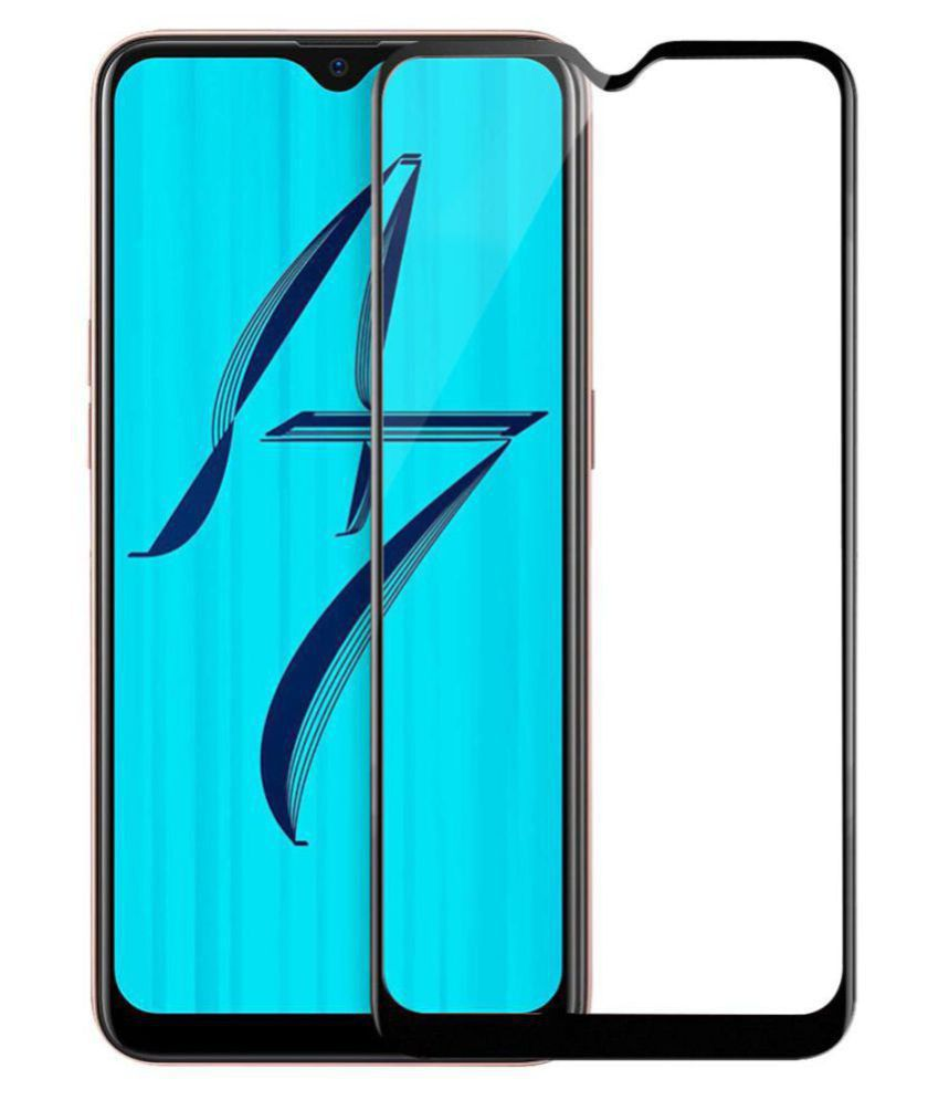 Oppo A7 Tempered Glass Screen Guard By lenmax UV Protection, Anti Reflection