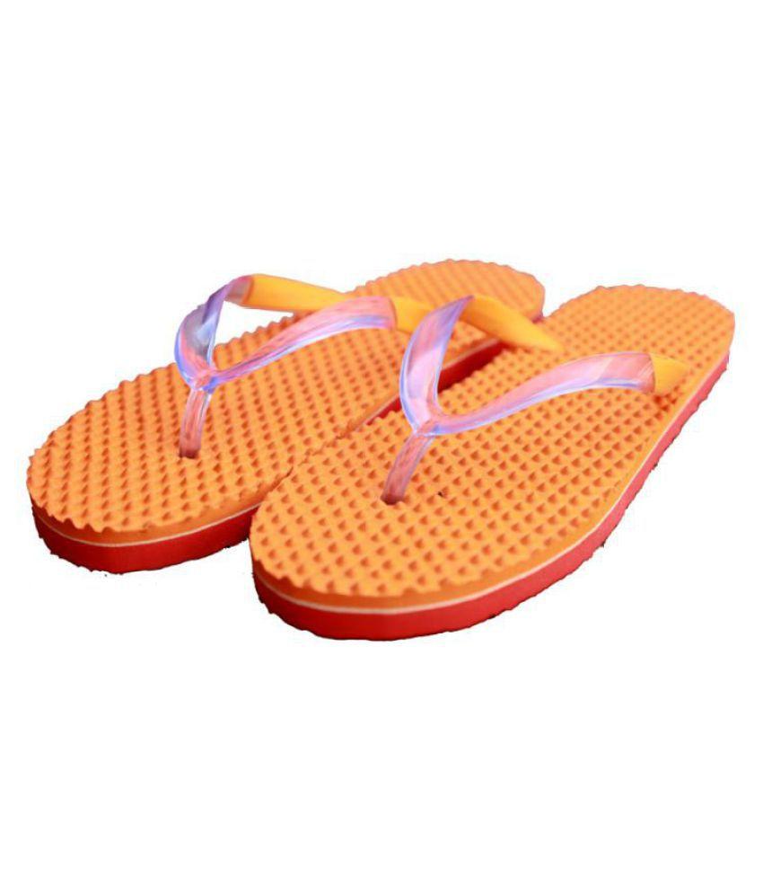 SOCCER FOOTWEAR Orange Slippers