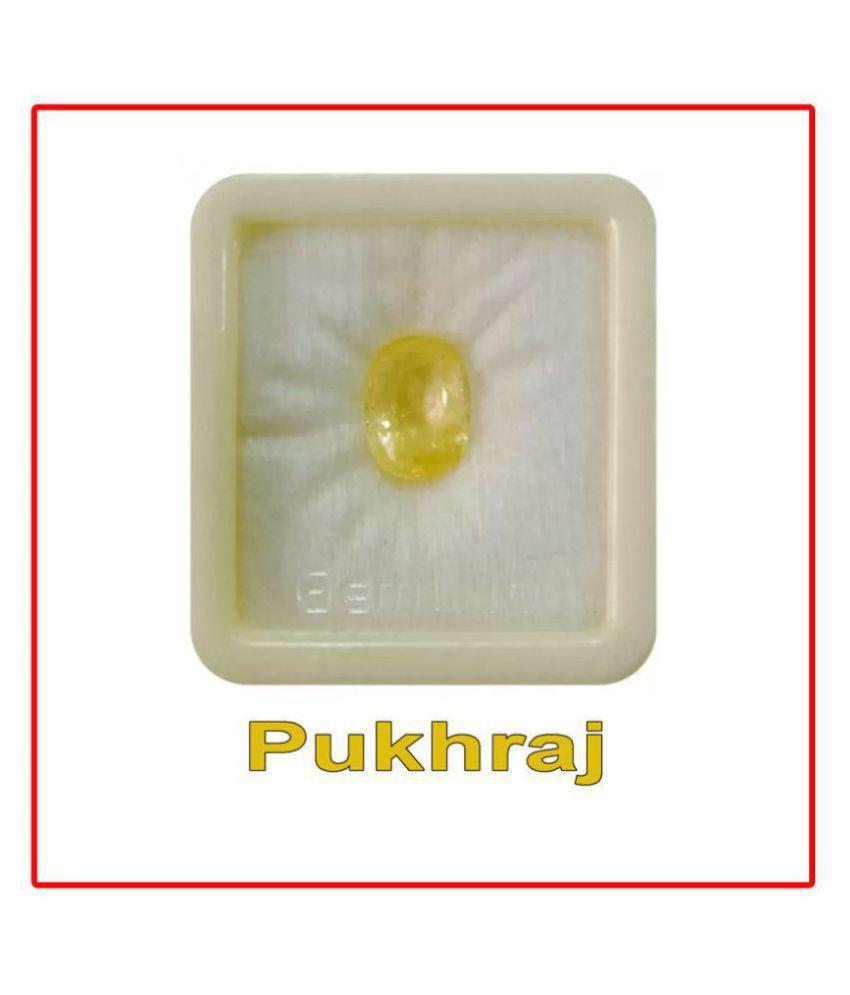 SARVNI GEMS 5.25 -Ratti AGL Yellow Yellow Sapphire (Pukhraj) Precious Gemstone