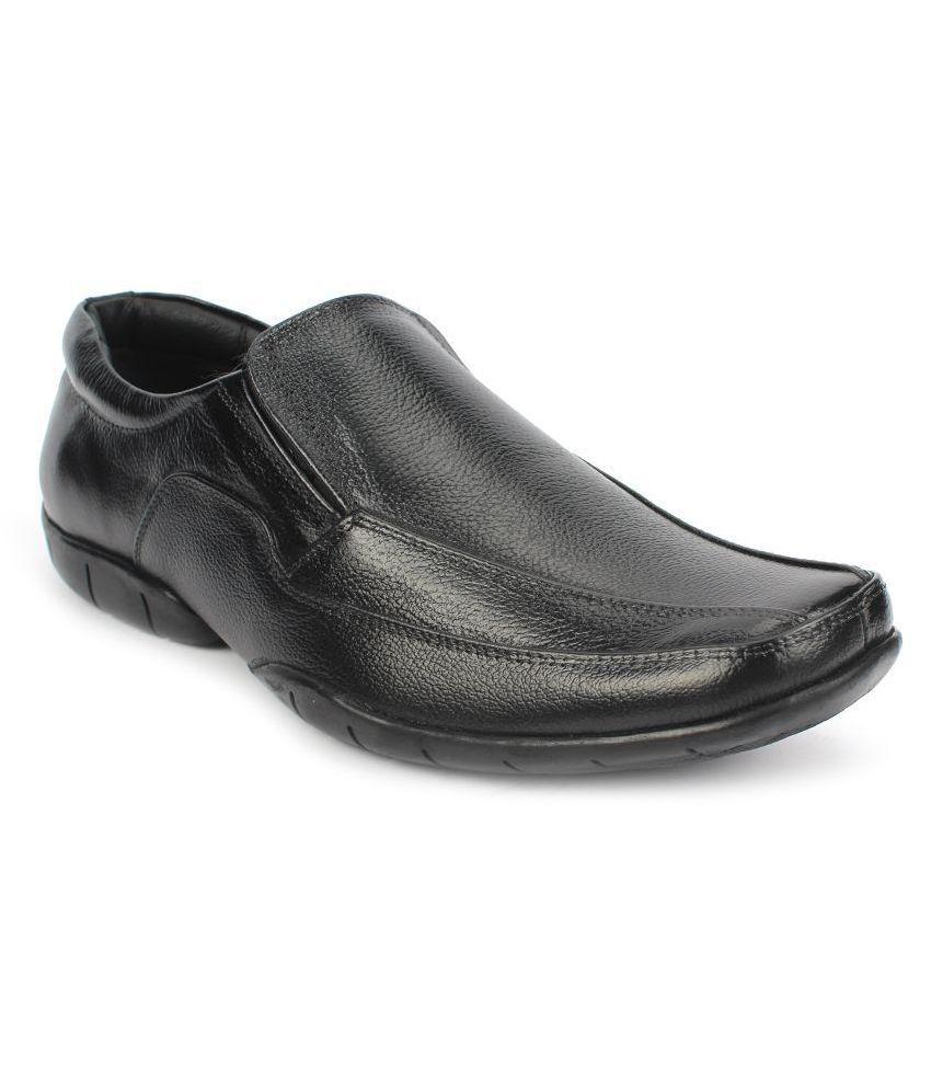 AVANTHIER Office Genuine Leather Black Formal Shoes