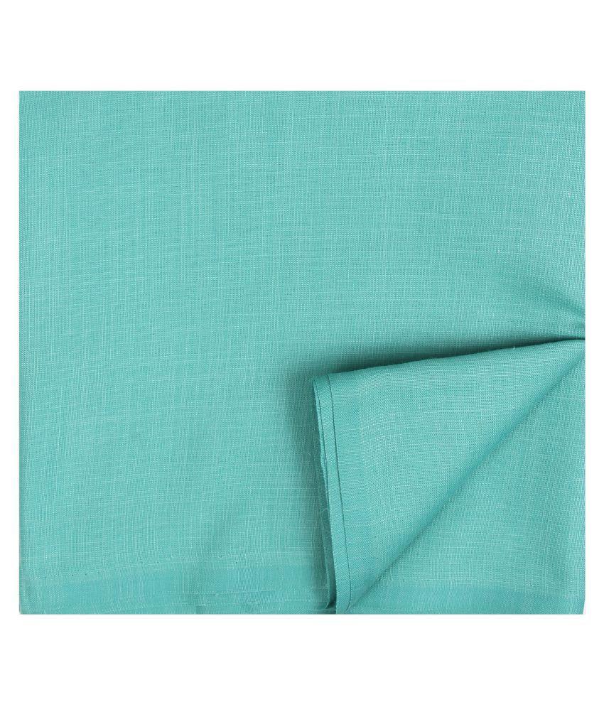 M Maharaja Green Poly Blend Unstiched Kurta Pyjama