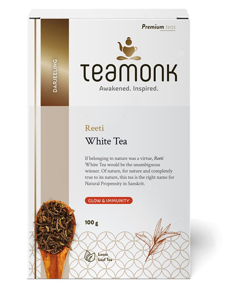 Teamonkglobal White Tea Loose Leaf 100 gm