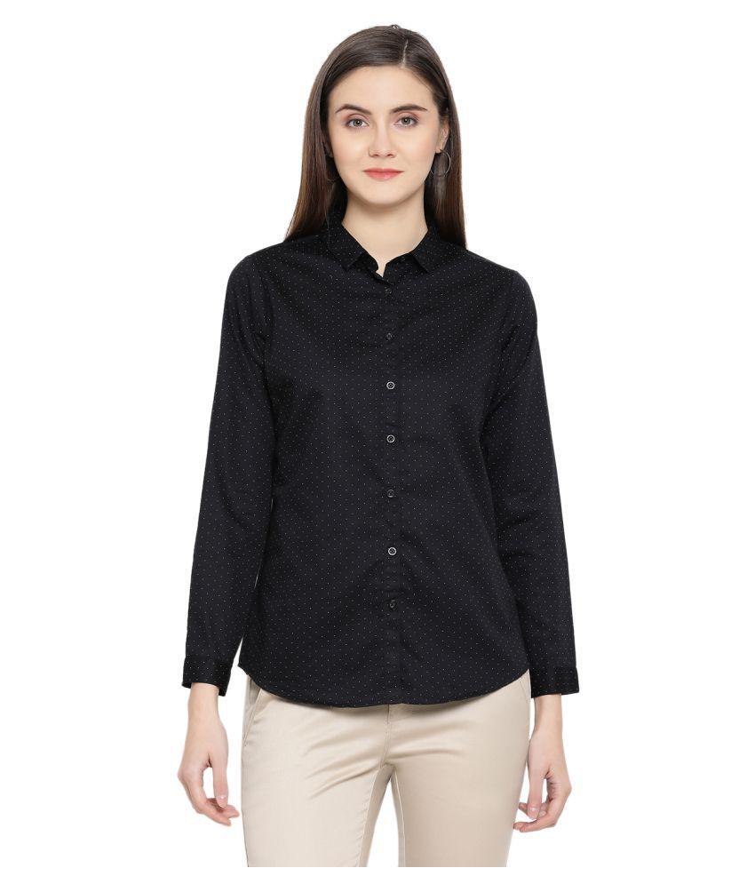 Crimsoune Club Black Cotton Shirt