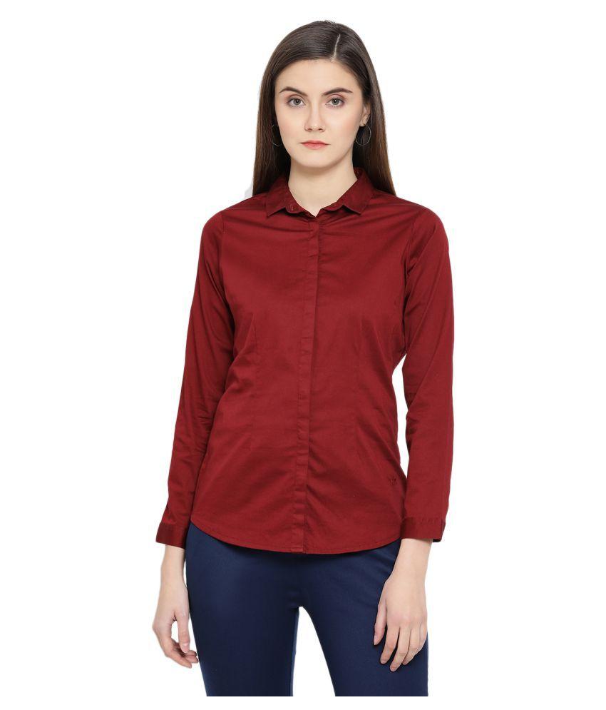 Crimsoune Club Red Cotton Shirt
