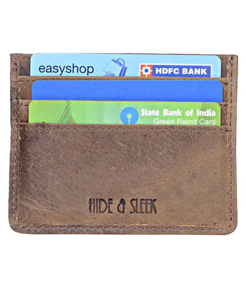 Hide&Sleek Brown Card Holder