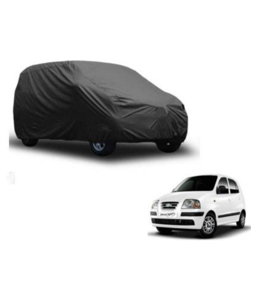 Home ACHIEVEMENT Waterproof Triple Stiched Grey Car Cover - Hyundai  Santro