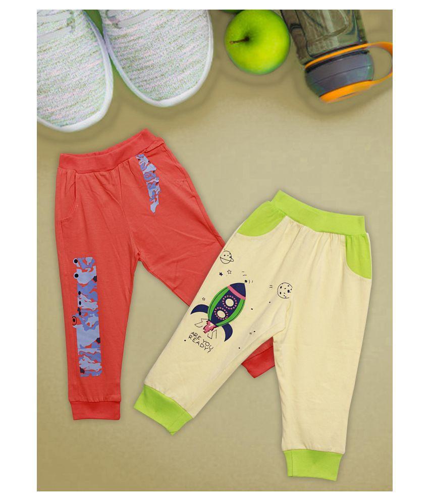 Me N My CLOSET 100% cotton Trackpant Latest Fashion Bottom set 0f 2