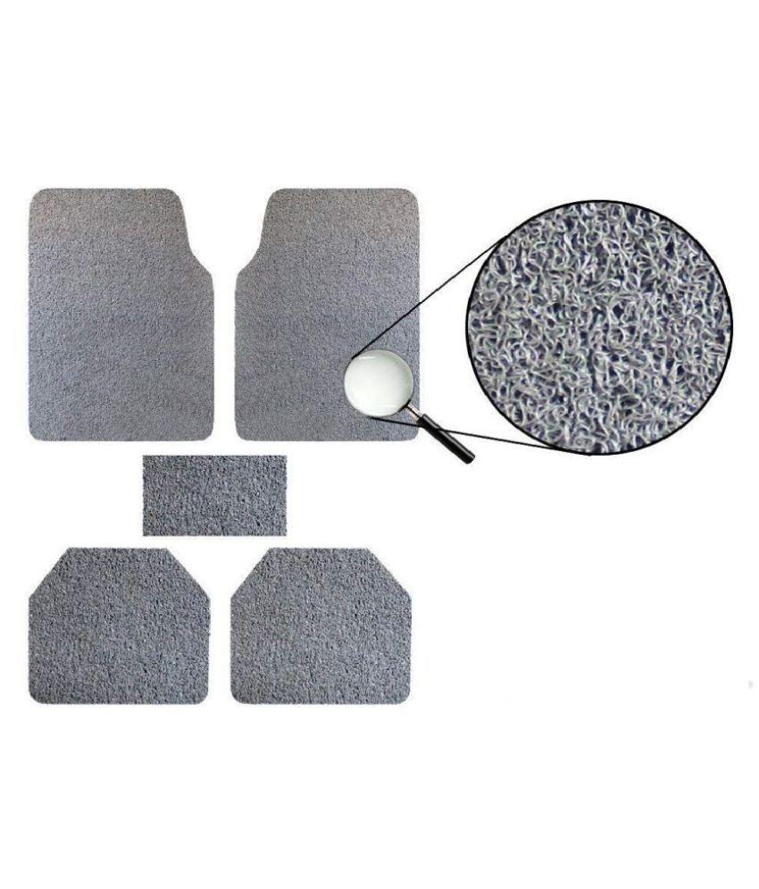 Autofetch Car Anti Slip Noodle Floor Mats (Set of 5) Grey for Maruti Suzuki Wagon R 1.0 [2013-2015]