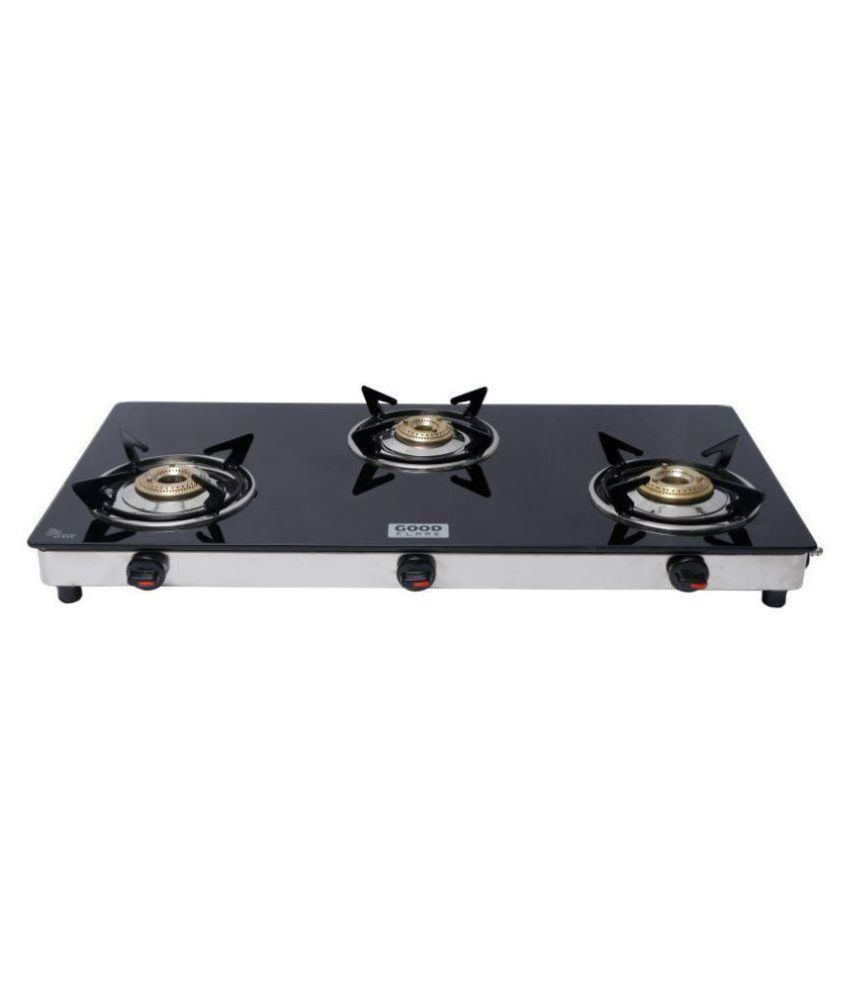Good Flame Runner Eco Series 3 Burner Manual Gas Stove with Cast Iron Burners