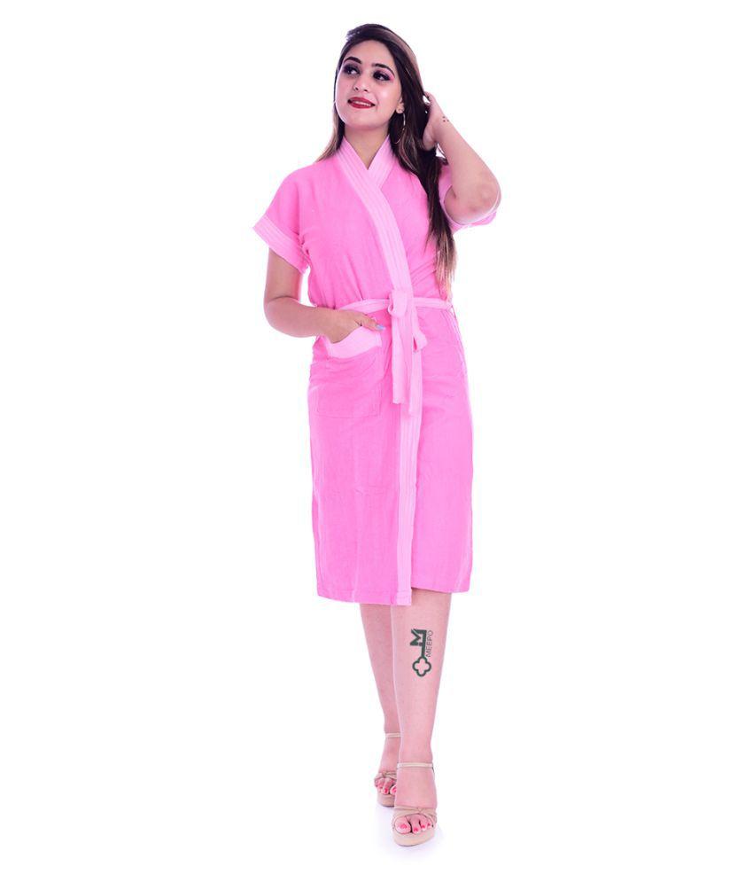 Meepo Single Free Size Bathrobe Pink