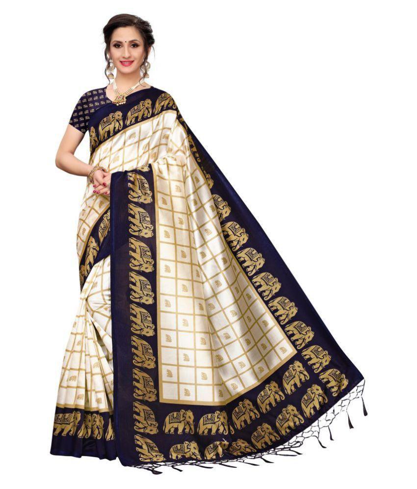 Pagazo Blue Mysore Silk Saree