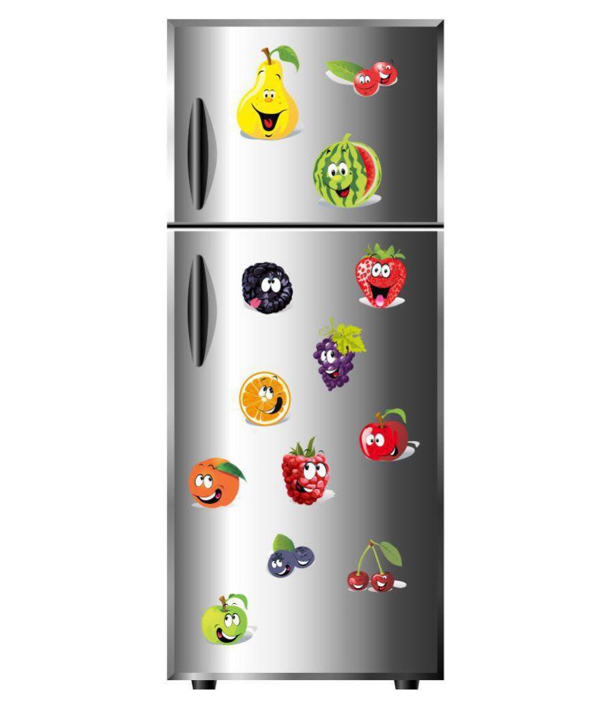 VCREATE DECOR Fruits Fridge Sticker ( 43 x 58 cms )